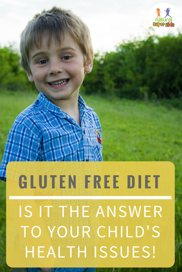 boy with gluten free diet